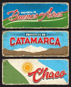 Buenos aires, catamarca y chaco, provincias argentinas