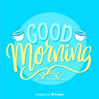 Buenos días fondo de letras estilo dibujado a mano