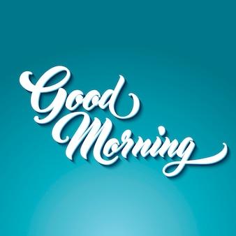 Buenos días letras a mano