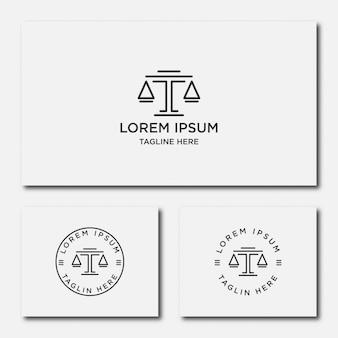 Bufete de abogados línea tendencia logo icono