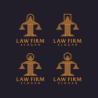 Bufetes de abogados establecer diseño de logotipo