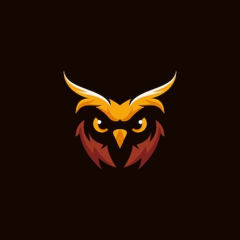 Búho logo vector