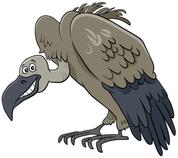 Buitre pájaro animal personaje de dibujos animados