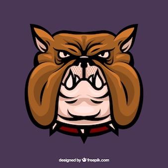 Bulldog cabeza mascota