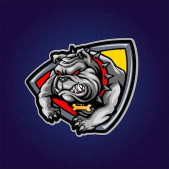 Bulldog enojado