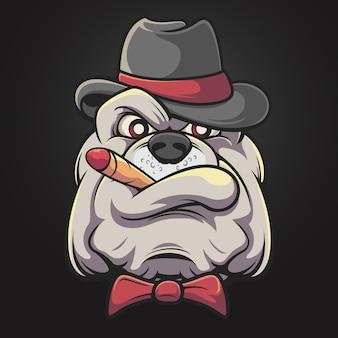 Bulldog fumador