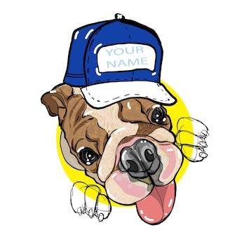 Bulldog inglés por dibujo a mano