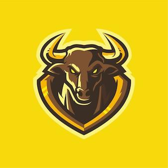 Bulls esport diseño de logotipo gaming