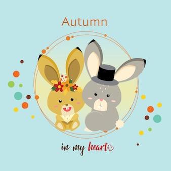 Bunny autumn en mi corazón