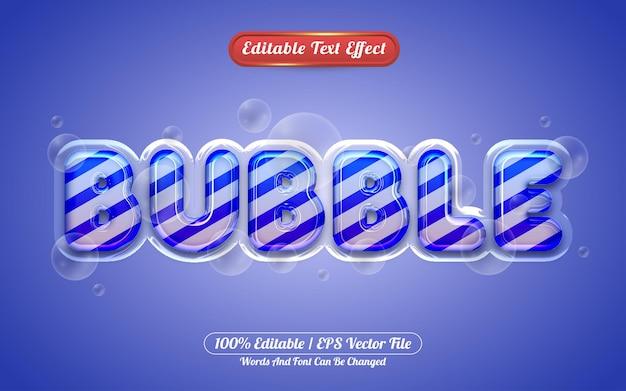 Burbuja 3d efecto de texto editable estilo líquido