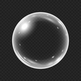 Burbuja de agua realista aislada