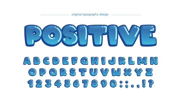 Burbuja azul redondeada tipografía de dibujos animados