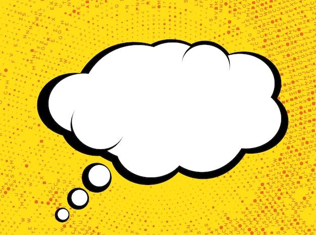 Burbuja de diálogo en estilo pop art comics con textura de semitono. ilustración de vector.