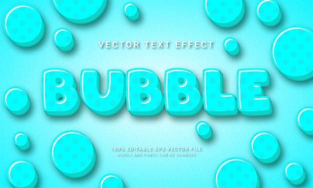 Burbuja efecto de estilo de texto 3d temática agua dulce