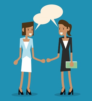 Burbuja con icono de persona femenina. comunicación.