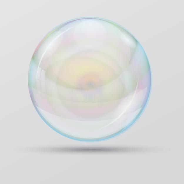 Burbuja sobre un fondo blanco. objetos individuales