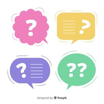 Burbuja de texto flat con signo de interrogación