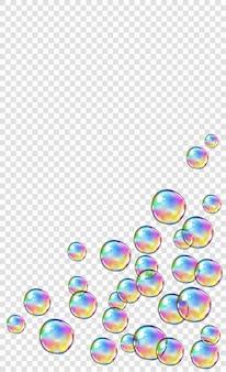 Burbujas de agua de jabón de espuma abstracta aisladas