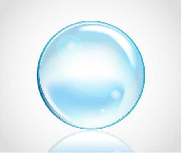 Burbujas de agua jabonosa
