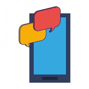 Burbujas de chat de smartphone