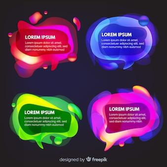 Burbujas de chat con variedad colorida de fondo