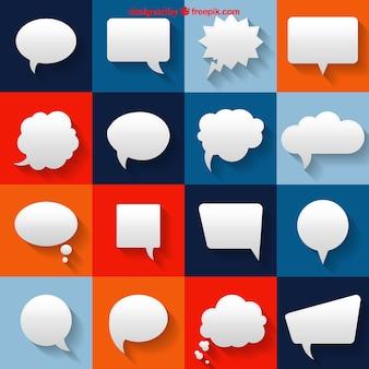 Burbujas de discurso blancas