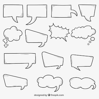 Burbujas de discurso dibujadas a mano