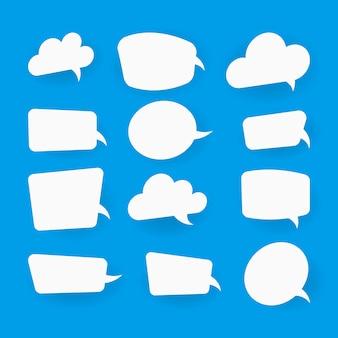 Burbujas de discurso en blanco blanco