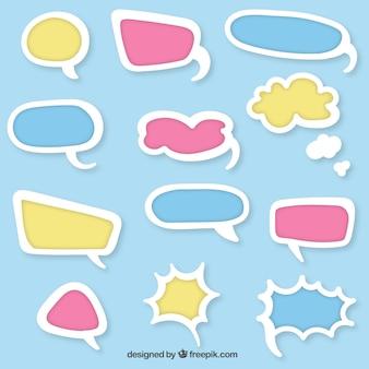 Burbujas del discurso de colores