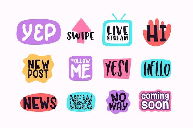 Burbujas divertidas de argot de las redes sociales