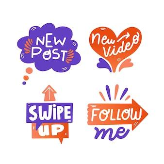 Burbujas divertidas de chat de jerga en redes sociales