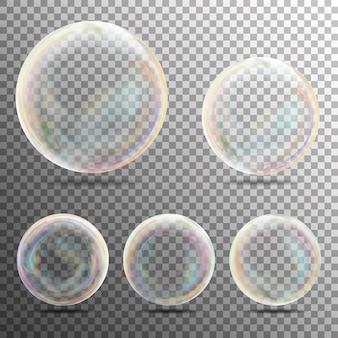 Burbujas de jabón realistas