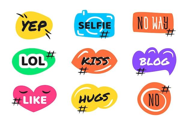 Burbujas de jerga de redes sociales