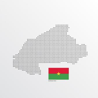 Burkina faso mapa del diseño