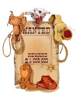 Se busca cartel vintage occidental.