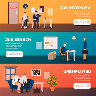 Buscando pancartas de trabajo