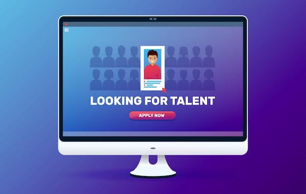 Buscando talento en línea. vacante abierta.