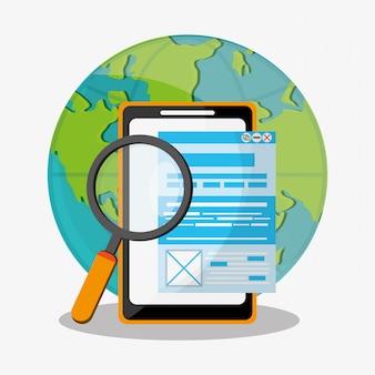 Buscar en iconos relacionados con la web