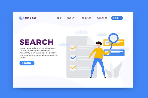 Buscar plantilla de página de destino de concepto
