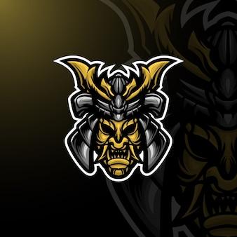 Bushido mascot logo e-sport