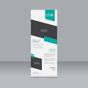 Business roll-up stand banner template