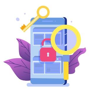 Búsqueda de vulnerabilidades y errores, búsqueda de concepto de malware.