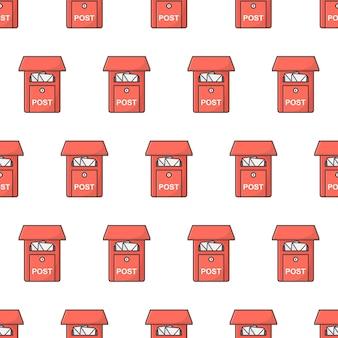 Buzón de patrones sin fisuras. ilustración de tema de buzón de correos