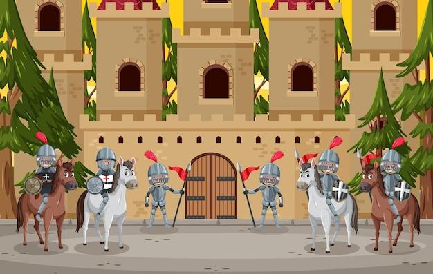 Caballero frente al castillo