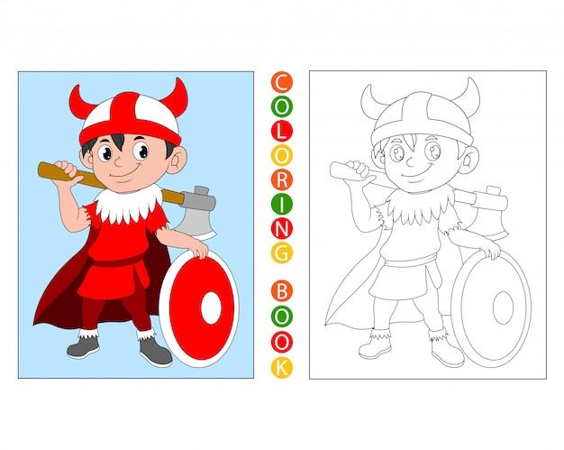 Caballeros de dibujos animados, libro para colorear