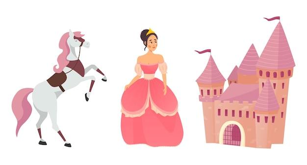 Caballo de hadas, princesa