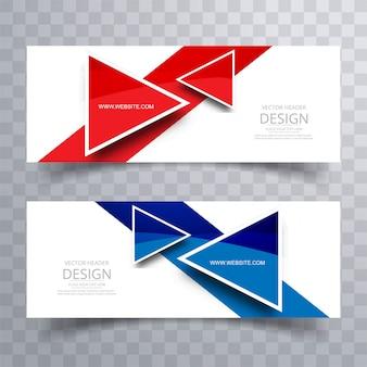 Cabecera coloful moderna conjunto de diseño vectorial