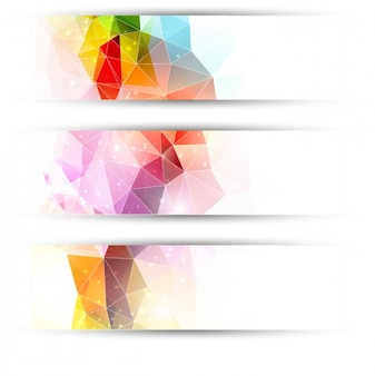 Cabeceras de triángulos coloridos