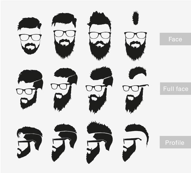 Cabello, bigote, barba.