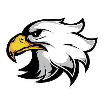 Cabeza de águila lado mira vector